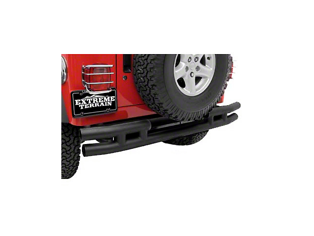 Smittybilt Tubular Rear Bumper w/o Hitch - Textured Black (87-06 Wrangler YJ & TJ)