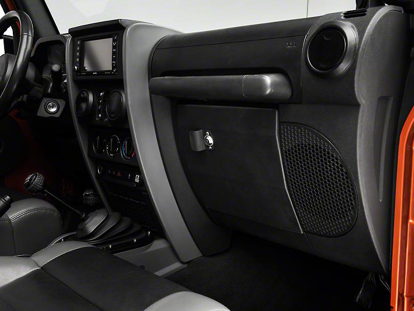Smittybilt Vaulted Glove Box - Black (07-18 Jeep Wrangler JK)