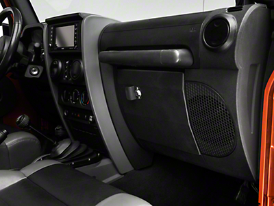 Smittybilt Vaulted Glove Box - Black (07-18 Jeep Wrangler JK)