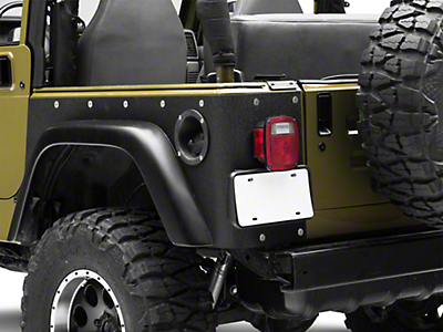Smittybilt Textured Black XRC Rear Corner Guards (97-06 Wrangler TJ, Excluding Unlimited)
