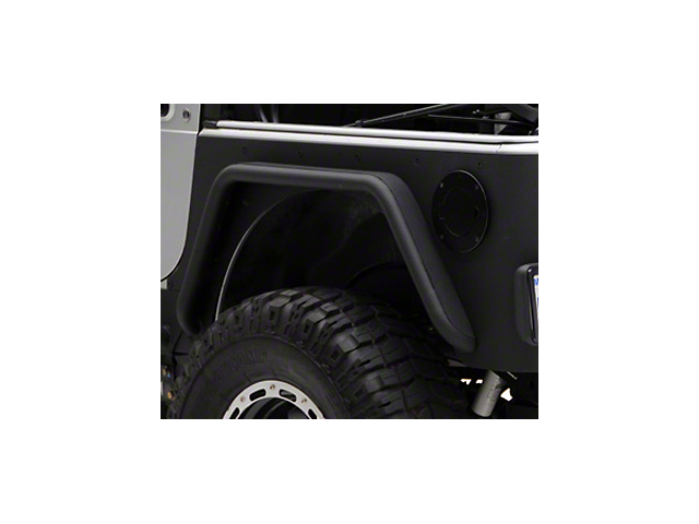 Smittybilt XRC Rear 3 in. Fender Flares - Black Textured (97-06 Wrangler TJ)