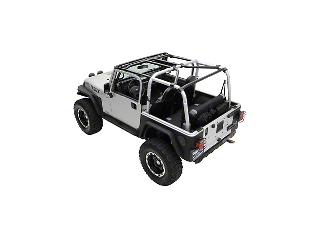 Smittybilt SRC Cage Kit - 7 Piece - Gloss Black (97-06 Jeep Wrangler TJ)