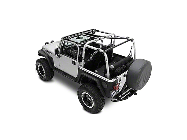 Smittybilt SRC Cage Kit - 7 Piece - Gloss Black (07-10 Jeep Wrangler JK 2 Door)