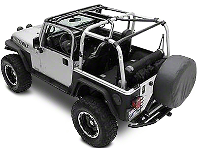 Smittybilt SRC Cage Kit - 7 Piece - Gloss Black (07-10 Wrangler JK 2 Door)