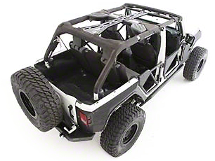 Smittybilt SRC Cage Kit - 6 Piece - Gloss Black (07-10 Jeep Wrangler JK 4 Door)