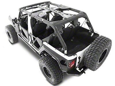 Smittybilt SRC Cage Kit - 7 Piece - Gloss Black (10-18 Jeep Wrangler JK 2 Door)