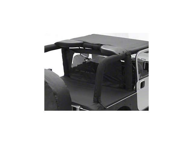 Smittybilt Outback Wind Breaker - Black Diamond (07-18 Jeep Wrangler JK 2 Door)