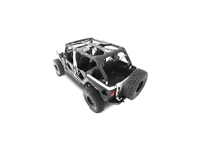 Smittybilt SRC Cage Kit - 6 Piece - Gloss Black (10-18 Jeep Wrangler JK 4 Door)