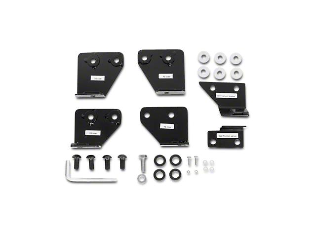 Smittybilt Seat Adapters; Front (07-18 Jeep Wrangler JK)