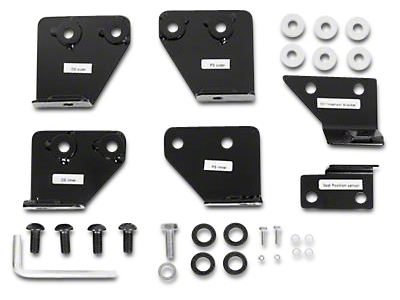 Smittybilt Seat Adapters - Front - All Seats - Includes Driver & Passenger Side (07-18 Wrangler JK)