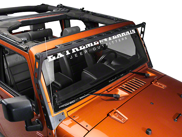 Smittybilt XRC Light Bar; Textured Black (07-18 Jeep Wrangler JK)