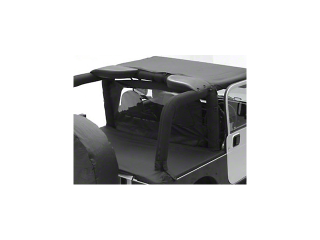Smittybilt Outback Wind Breaker; Black Diamond (07-18 Jeep Wrangler JK 4 Door)