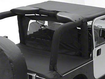 Smittybilt Outback Wind Breaker - Black Diamond (07-18 Jeep Wrangler JK 4 Door)