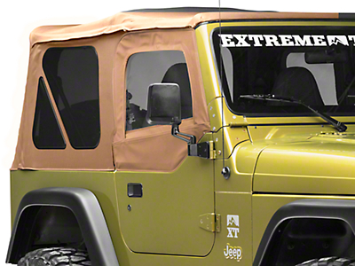 Smittybilt Soft Top Door Skin w/ Frame & Clear Windows - Passenger Side - Spice Denim (97-06 Wrangler TJ)
