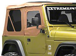 Smittybilt Soft Top Door Skin w/ Frame & Clear Windows - Passenger Side - Spice Denim (97-06 Jeep Wrangler TJ)