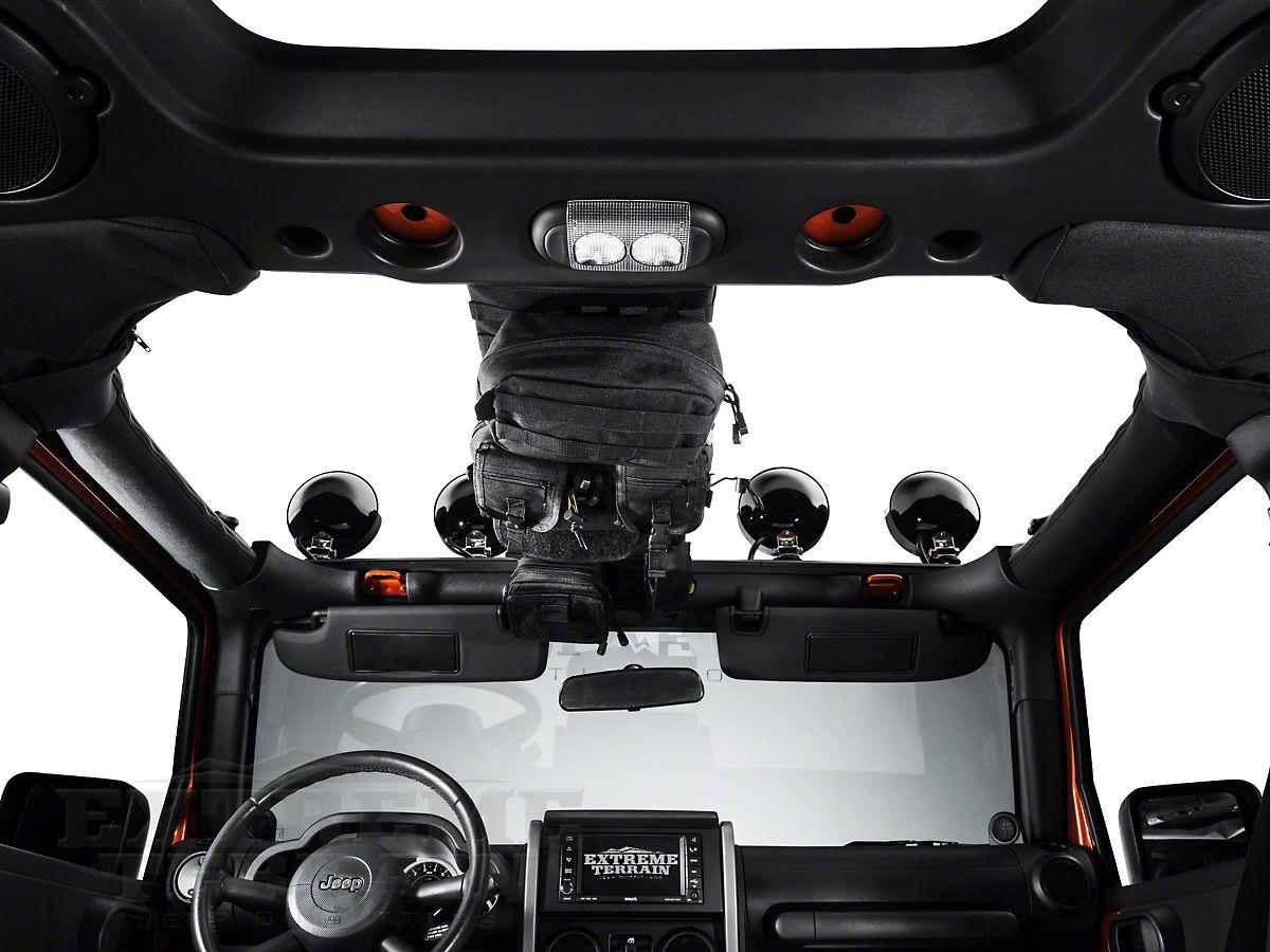 G.E.A.R Overhead Storage Console Black for Jeep Wrangler JK 2007-2018 5666001