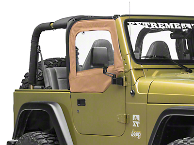 Smittybilt Soft Top Door Skins w/ Clear Windows - Spice Denim (97-06 Jeep Wrangler TJ)