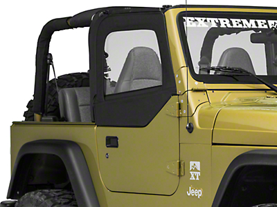 Smittybilt Soft Top Door Skins w/ Clear Windows - Black Diamond (97-06 Wrangler TJ)