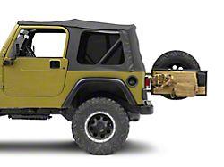 Smittybilt G.E.A.R. Tailgate Cover; Coyote Tan (97-06 Jeep Wrangler TJ)