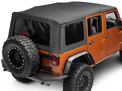 Smittybilt OEM Replacement Soft Top w/Tinted Windows - Black Diamond (10-18 Wrangler JK 4 Door)