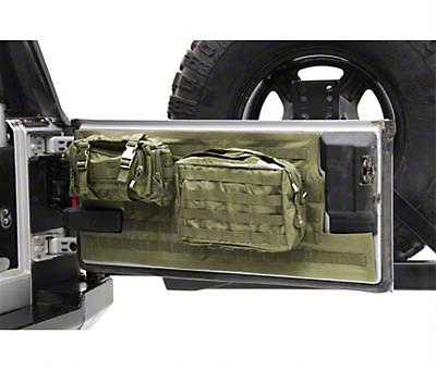 Smittybilt G.E.A.R. Tailgate Cover - O.D. Green (97-06 Jeep Wrangler TJ)