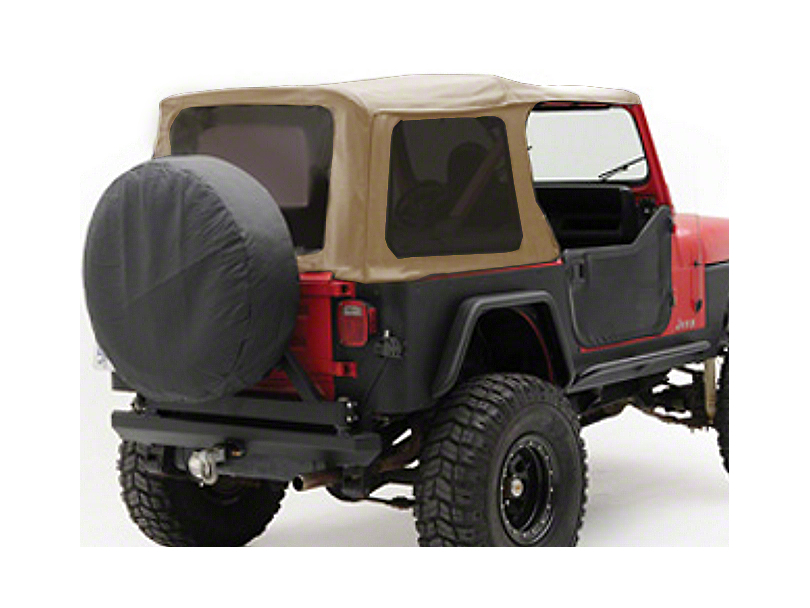 Smittybilt Replacement Soft Top w/ Tinted Windows - Spice Denim (97-06 Wrangler TJ w/ Factory Soft Top)