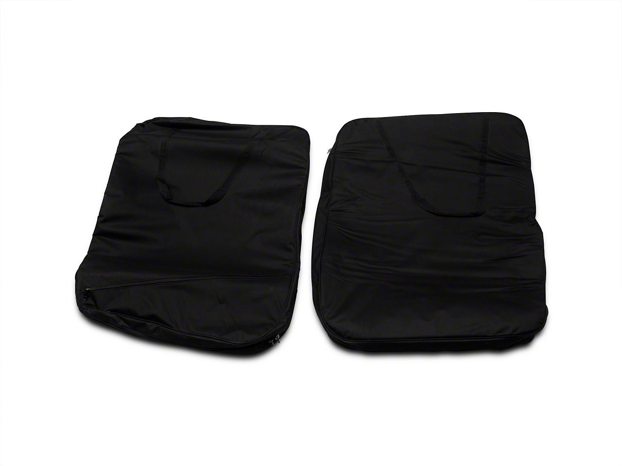 Smittybilt Storage Bag - Hard Doors - Pair - Black (07-18 Jeep Wrangler JK)