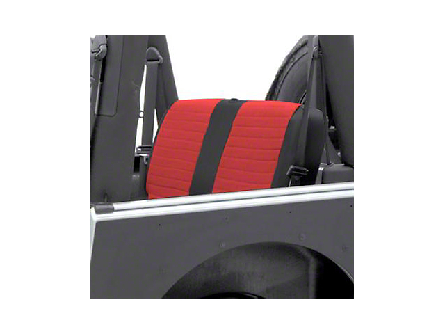 Smittybilt XRC Seat Cover - Rear - Black Sides/ Red Center (97-02 Jeep Wrangler TJ)