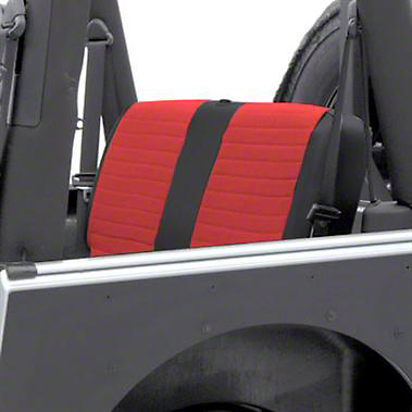 Smittybilt XRC Seat Cover - Rear - Black Sides/ Red Center (97-02 Wrangler TJ)