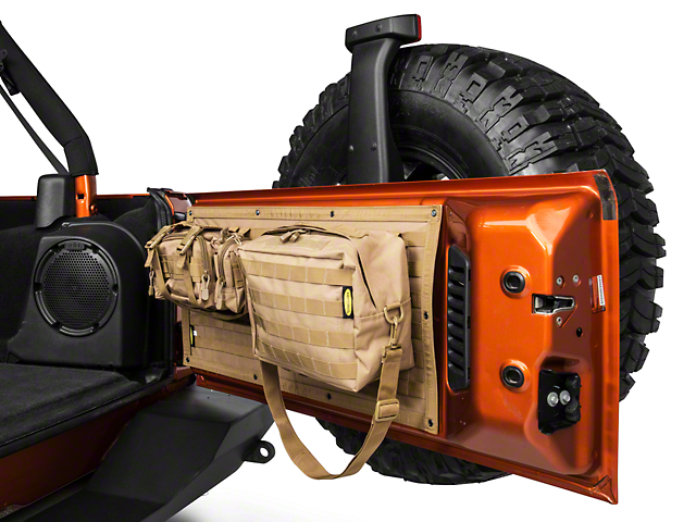 Smittybilt GEAR Tailgate Cover; Coyote Tan (07-18 Jeep Wrangler JK)