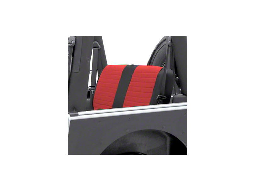 Smittybilt XRC Seat Cover - Rear - Black Sides/ Red Center (03-06 Jeep Wrangler TJ)
