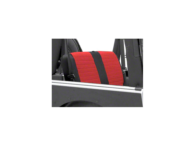 Smittybilt XRC Seat Cover - Rear - Black Sides/ Red Center (2007 Jeep Wrangler JK 4 Door)