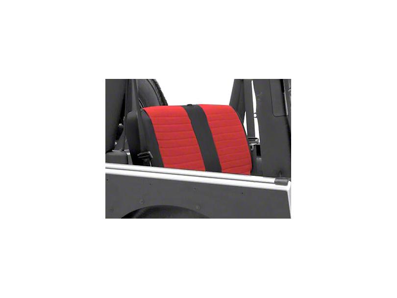 Smittybilt XRC Seat Cover - Rear - Black Sides/ Red Center (2007 Wrangler JK 4 Door)