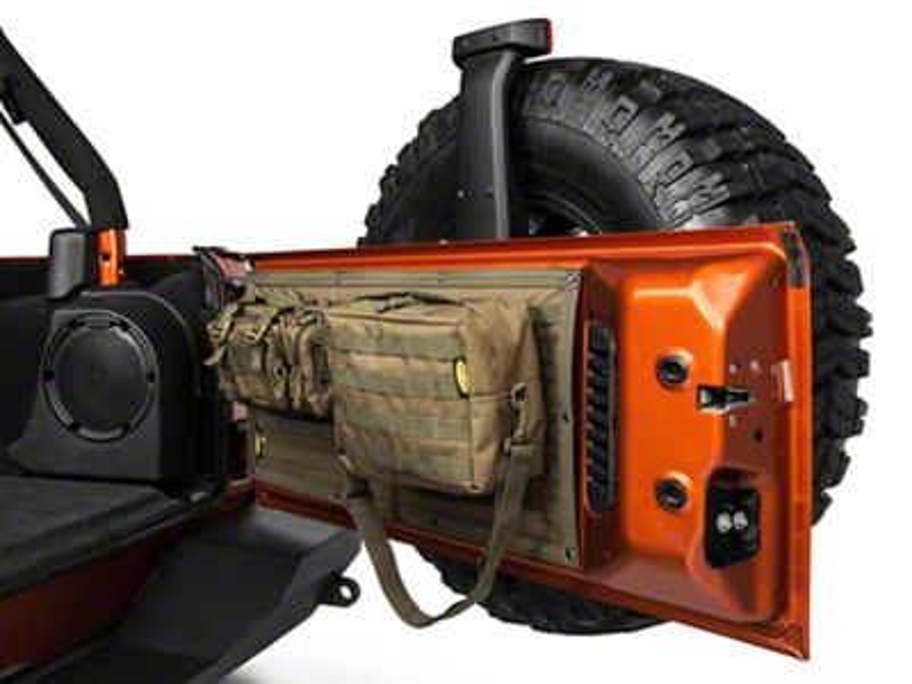 Smittybilt GEAR Tailgate Cover - O.D. Green (07-18 Jeep Wrangler JK)
