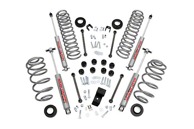Rough Country 3.25 in. Lift Kit w/ Shocks (97-02 2.5L Jeep Wrangler TJ)