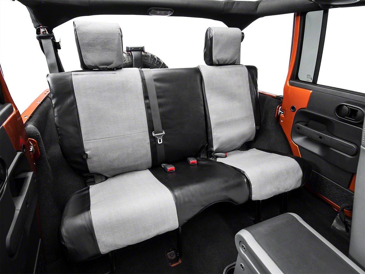 Smittybilt XRC Rear Seat Cover - Black/Gray (08-18 Jeep Wrangler JK 4 Door)