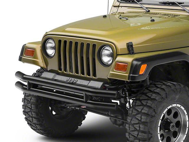 Smittybilt Tubular Front Bumper; Gloss Black (87-06 Jeep Wrangler YJ & TJ)