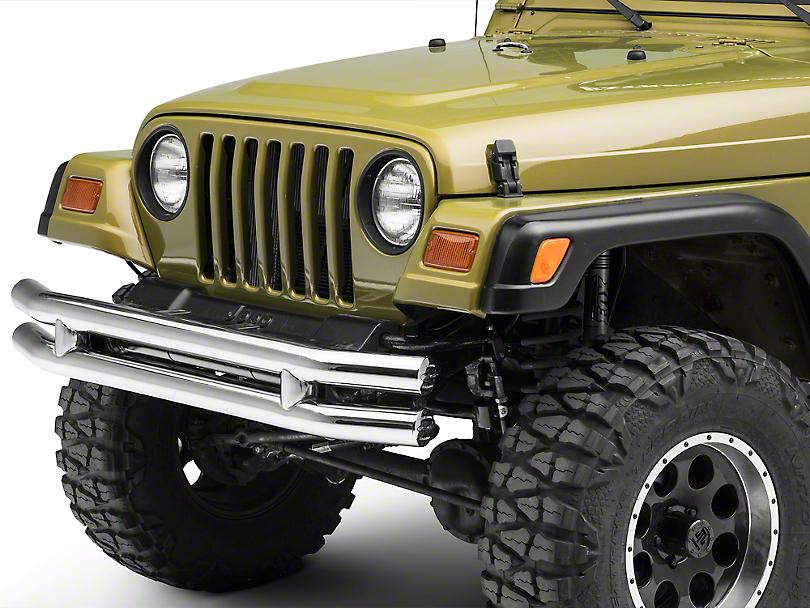 Smittybilt Tubular Front Bumper - Stainless Steel (87-06 Wrangler YJ & TJ)