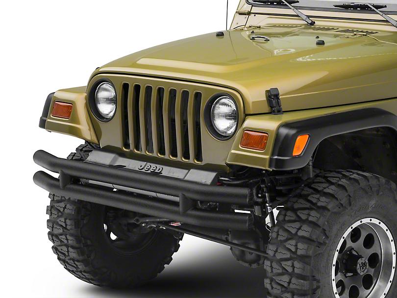 Smittybilt Tubular Front Bumper - Textured Black (87-06 Jeep Wrangler YJ & TJ)