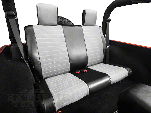 Smittybilt XRC Rear Seat Cover; Black/Gray (07-18 Jeep Wrangler JK 2 Door)