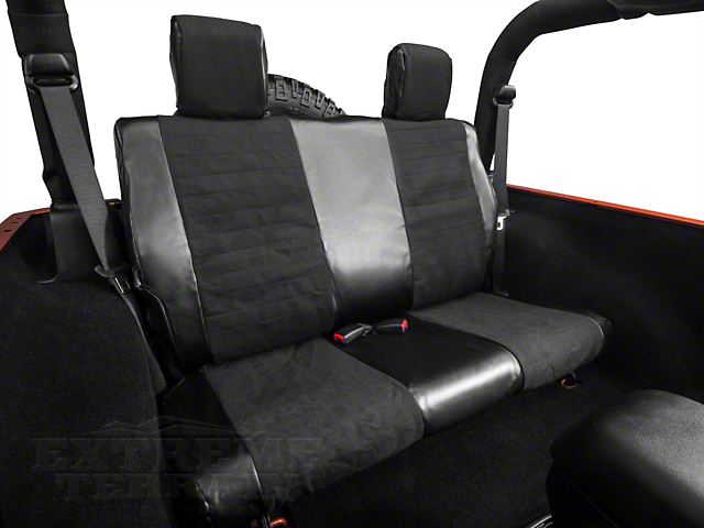 Smittybilt XRC Rear Seat Cover - Black (07-18 Wrangler JK 2 Door)