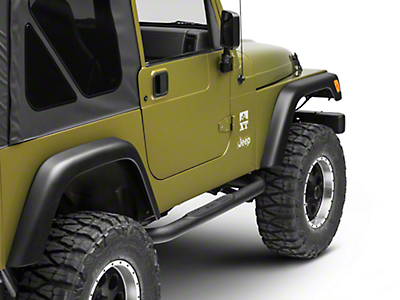 Smittybilt 3 in. Sure Step Side Bars - Textured Black (97-06 Wrangler TJ)