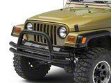 Smittybilt Tubular Front Bumper with Hoop; Textured Black (87-06 Jeep Wrangler YJ & TJ)
