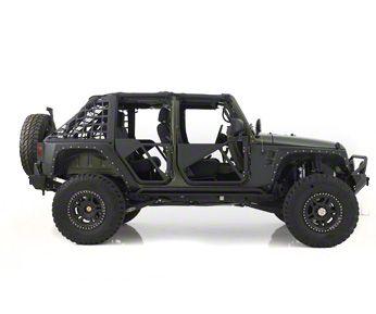 Add Smittybilt SRC Tubular Doors - Rear - Black Textured (07-17 Wrangler JK)