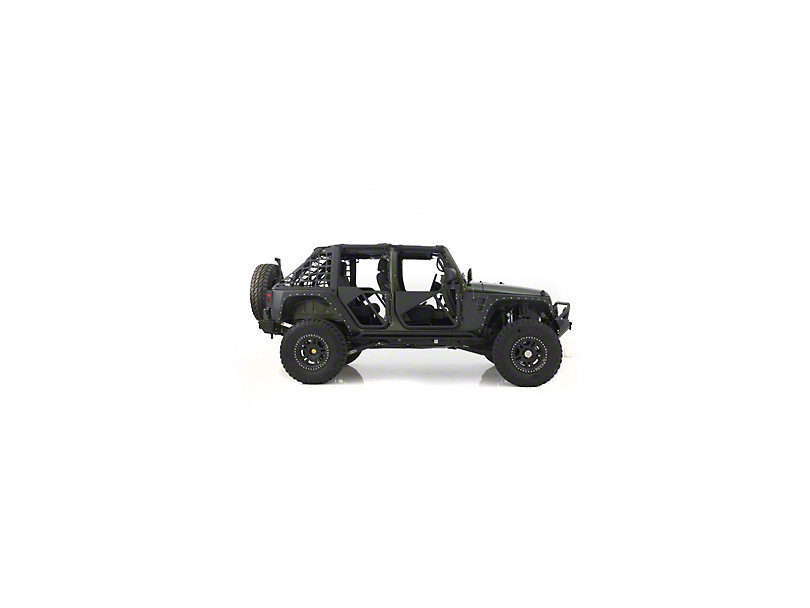 Smittybilt SRC Tubular Doors - Rear - Black Textured (07-17 Wrangler JK)