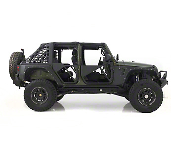 Smittybilt SRC Tubular Doors - Rear - Black Textured (07-18 Wrangler JK)