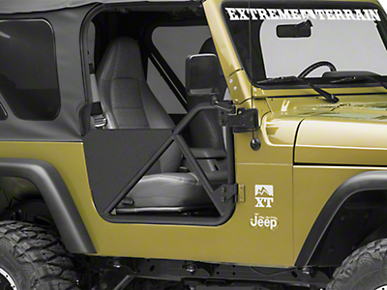 Smittybilt SRC Tubular Doors - Front - Black Textured (97-06 Wrangler TJ)