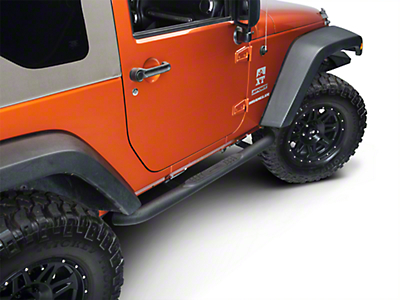 Smittybilt 3 in. Sure Step Side Bars - Textured Black (07-17 Wrangler JK 2 Door)