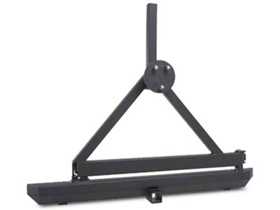 Smittybilt SRC Classic Tire Carrier Only - Textured Black (87-06 Jeep Wrangler YJ & TJ)