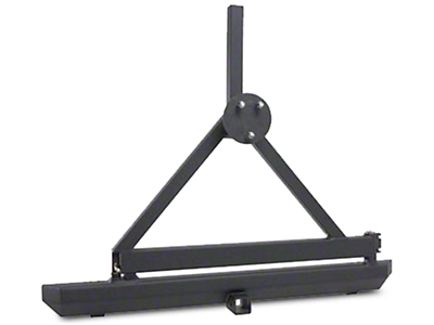 Smittybilt SRC Classic Tire Carrier Only - Textured Black (87-06 Wrangler YJ & TJ)